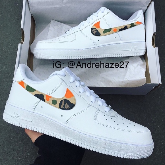 best loved 94dff fea79 (W) Nike Air Force 1 Bape
